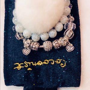Jewelry - Charm and beaded bracelet